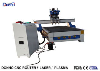 3 Working Head CNC Router Milling Machine With 1300 * 2500 mm 6 Zones Vacuum Table
