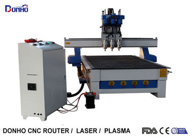 Three Heads CNC Router Engraver Milling Machine With 3.0 KW Air Cooling Spindle