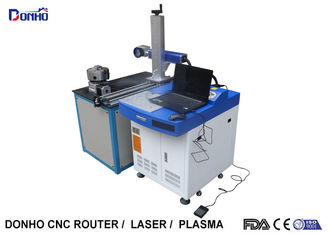 30W Portable Laser Marking Machine With Rotary Axis And Moving Marking Head